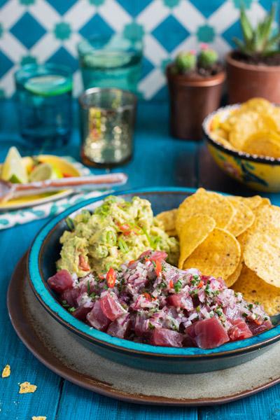 Mexican Tuna ceviche