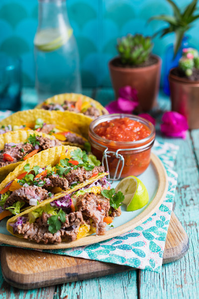 Skirt Steak Crunchy Mexican Tacos