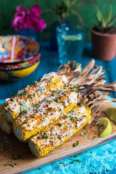 Elotes Mexican-style Grilled Corn