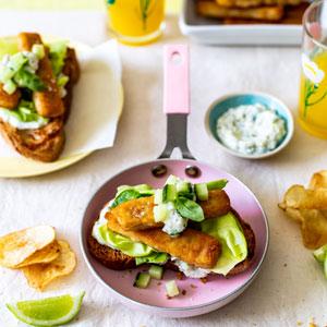 Open Fish Sandwich
