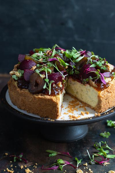 Savoury Blue Cheese Cheesecake