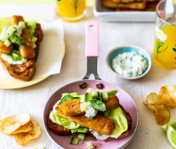 Open Fish Sandwiches