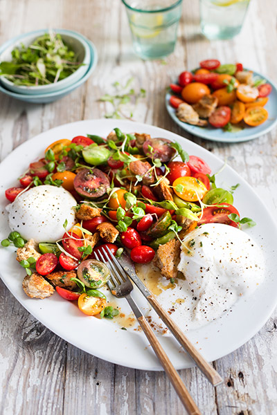 Toasted Panzanella Salad