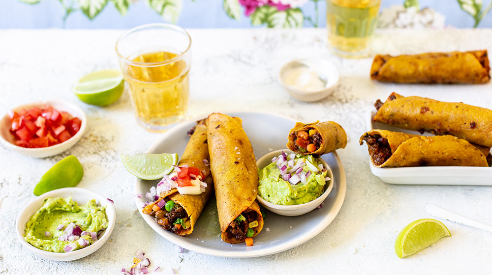 Beef & Vegetable Taquitos