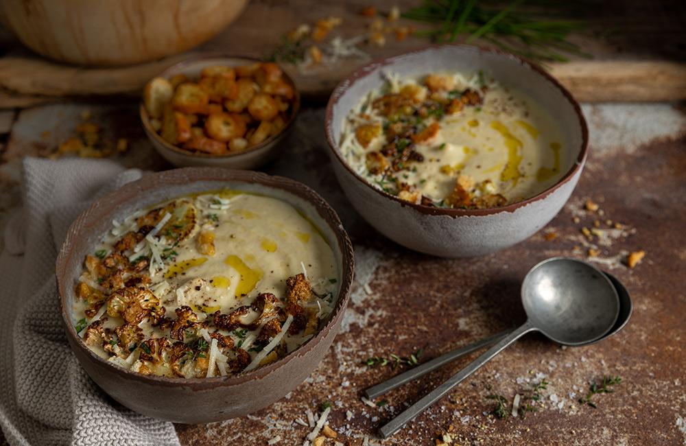 Roasted Cumin Cauliflower soup