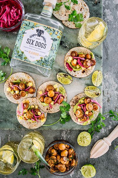 mini mushroom tacos