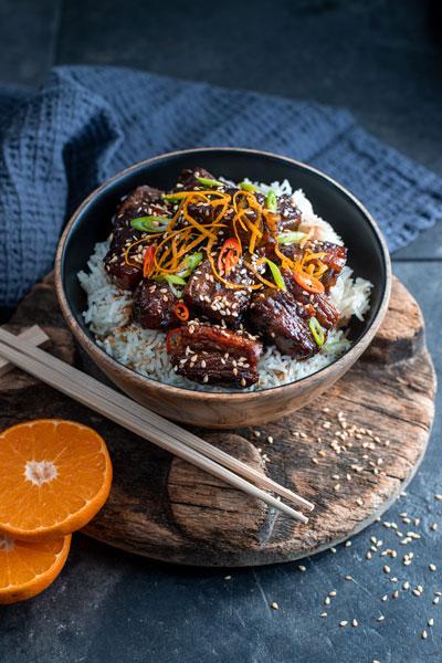 Sticky Asian Pork Belly with ClemenGold Glaze