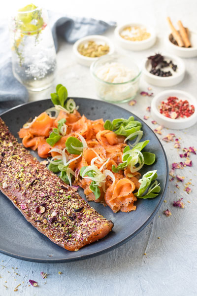 botanical gin cured trout fathers day