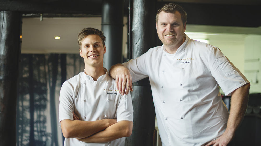 Scot Kirton and James Gaag - chefs of La Colombe, 12th Best Fine Dining Restaurant in the World according to TripAdvisor Travelers' Choice®