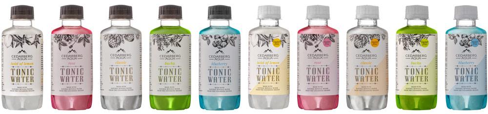 Cedarberg Aqua full tonic water range with sugar free