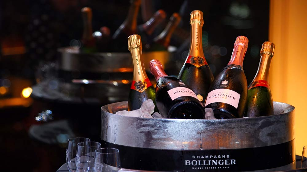Bollinger Special Cuvée NV & Rosé NV on ice