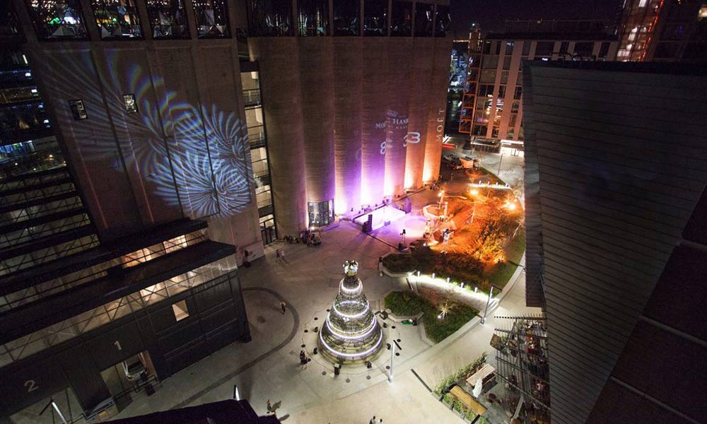 Moët & Chandon's Golden Tree Lighting Ceremony at silo