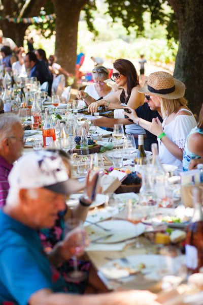 Delheim Harvest Festival table