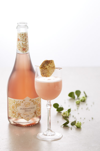carribean charge sparkling rosé cocktail