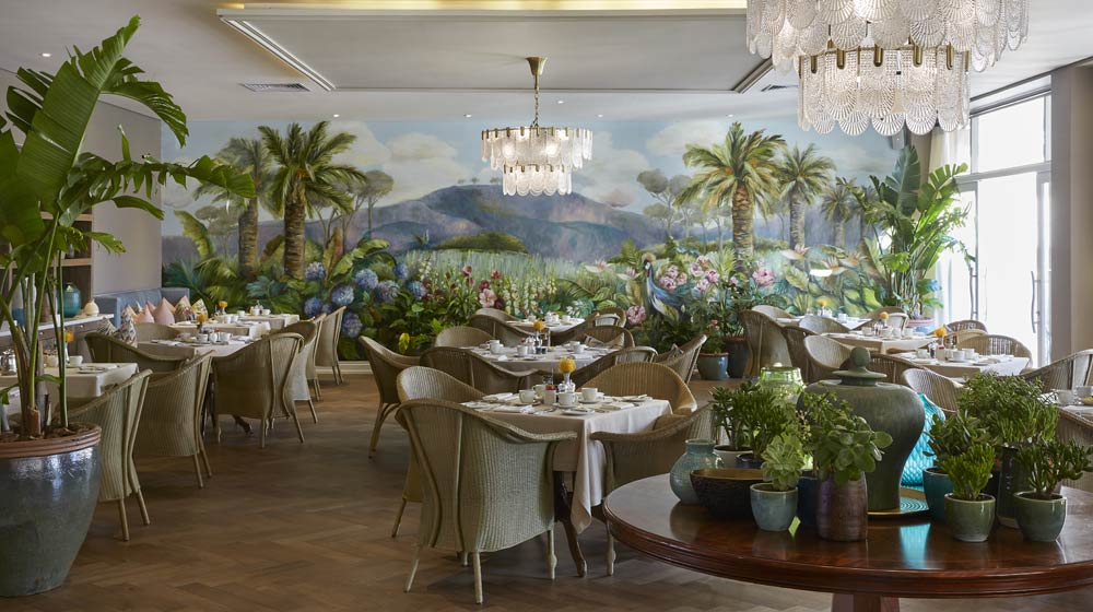 Belmond Mount Nelson lunch at oasis with summer bliss package