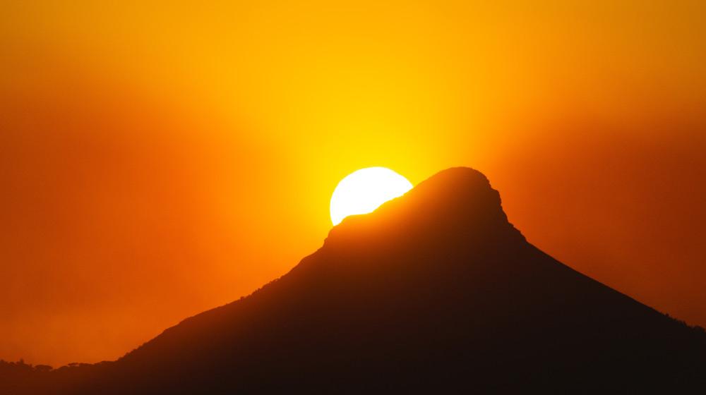 Cape Town Summer Lions head sunset