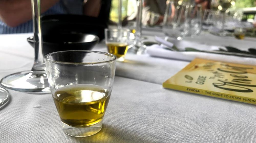 tasting extra virgin olive oil (evoo)