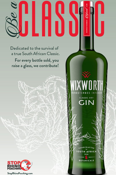 Wixworth Gin Rhino conservation