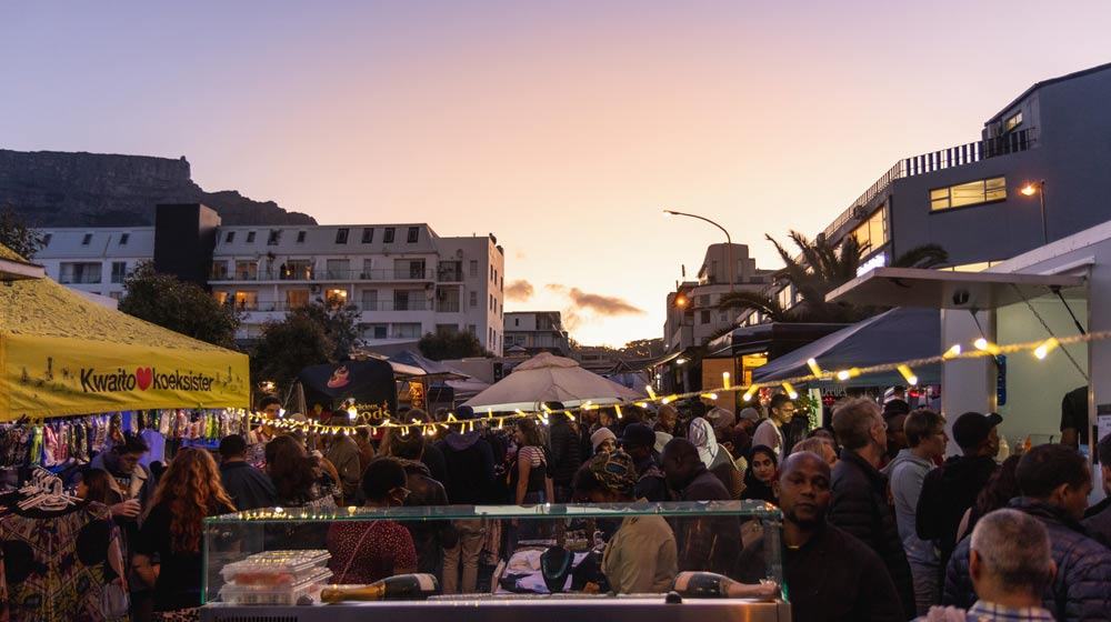 Table Mountain view Upper Bree Street Market