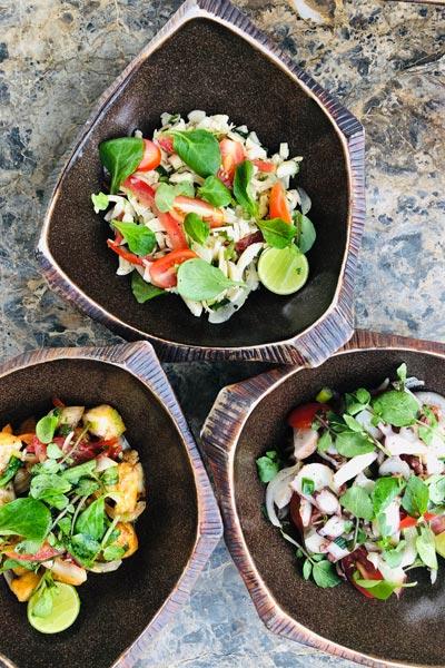 salads at Bambou Restaurant
