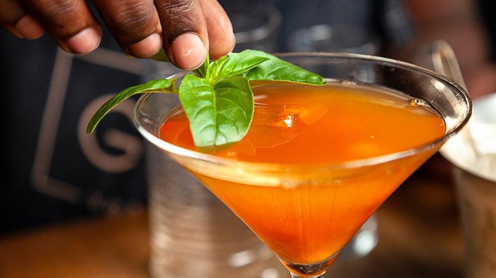 enjoy gin with basil