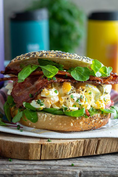 The Ultimate Egg Mayo & Bacon Bagel