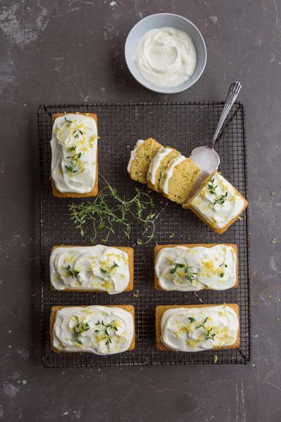polenta cakes baking with Westfalia