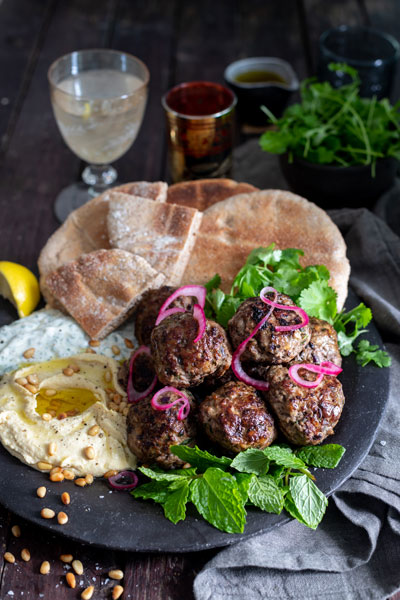 Lam Meatball recipe using extra virgin olive oil