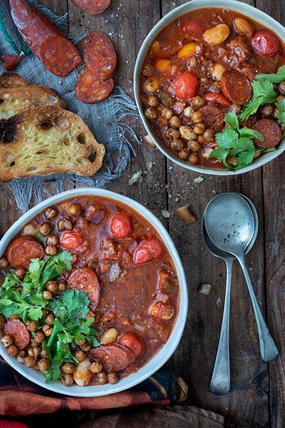 Chilli, Chorizo, Bean & Tomato Soup