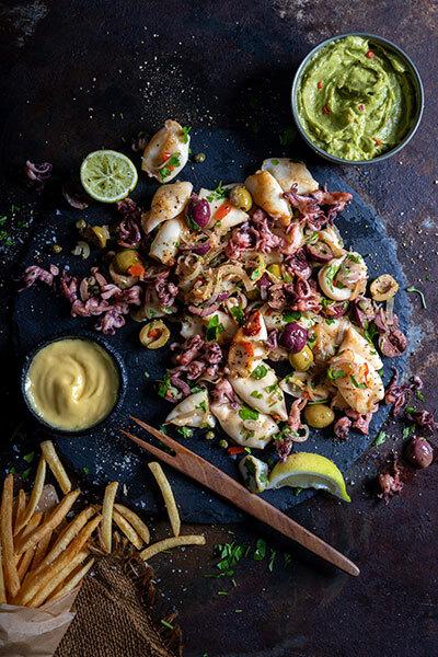 pan fried calamari fathers day