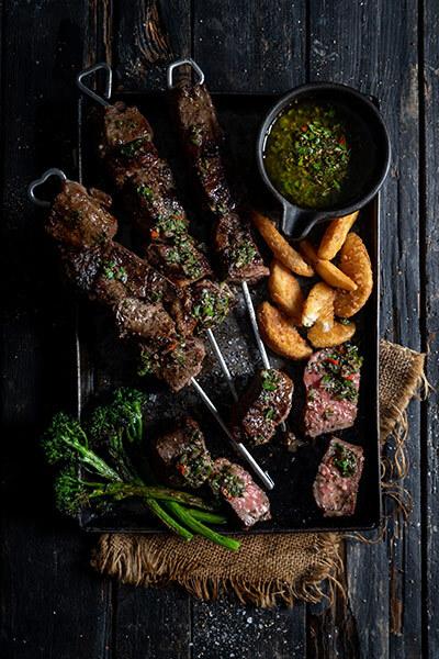 rump steak kebabs