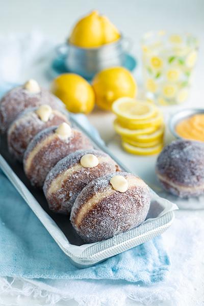 lemon curd doughnuts