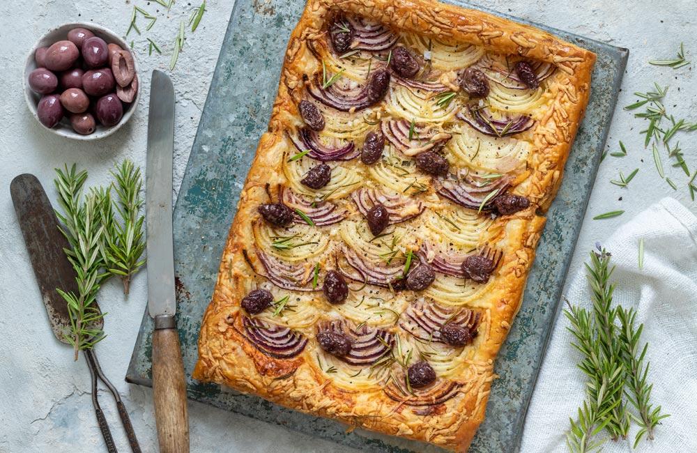 Onion, Olive & Goat's Cheese Tart