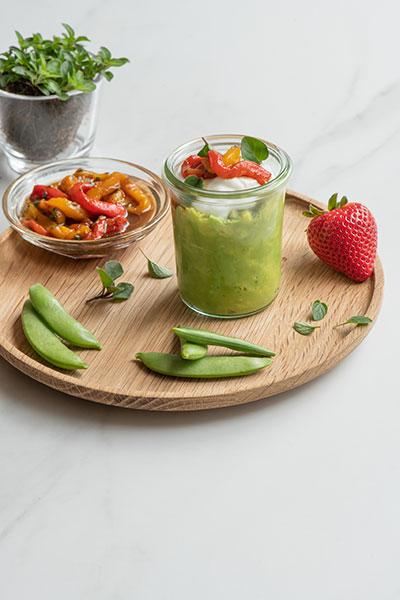 Roasted Pepper & Guacamole Dip