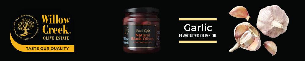 willow creek garlic flavoured olive oil