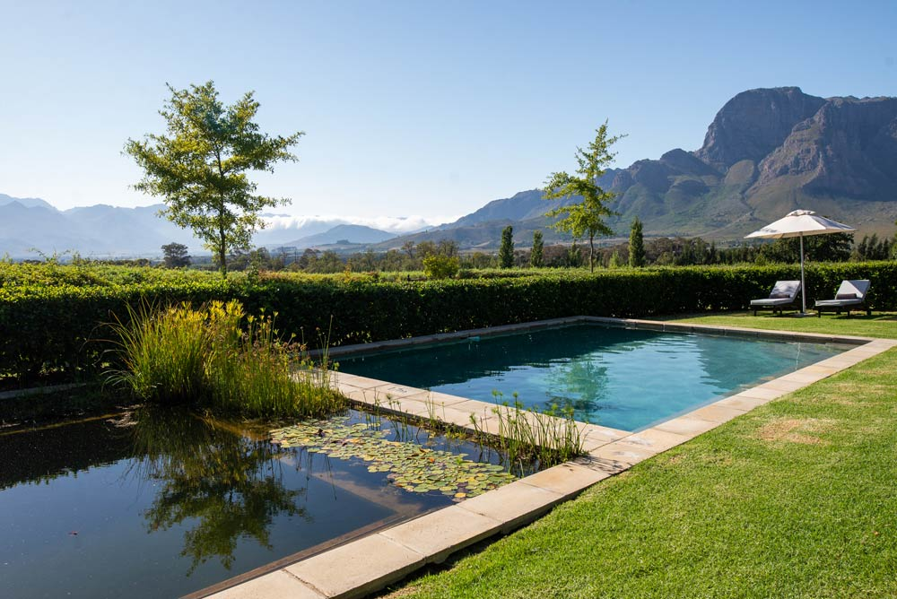 Private Pool Boschendal Cottage 1685