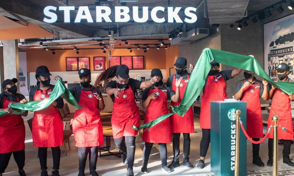 opening of Starbucks at V&A