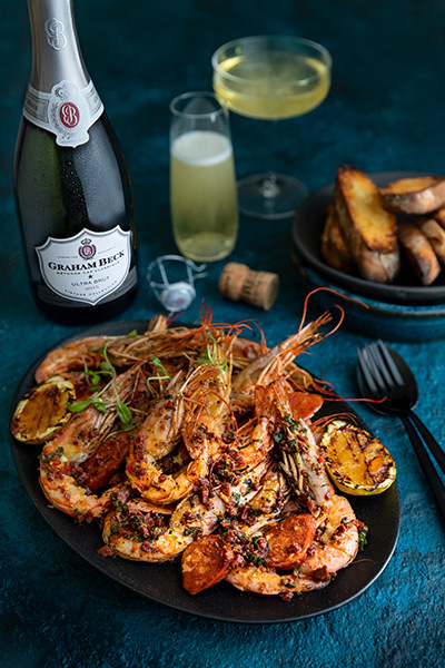 Pan-fried Chorizo Butter Prawns | Crush Mag