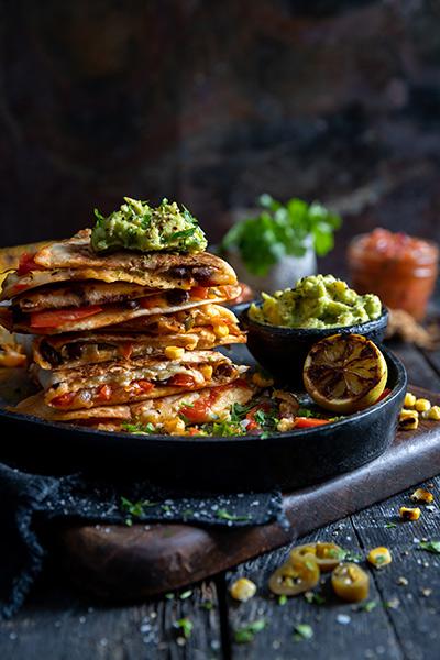 Quesadillas with Roasted Tomato Salsa