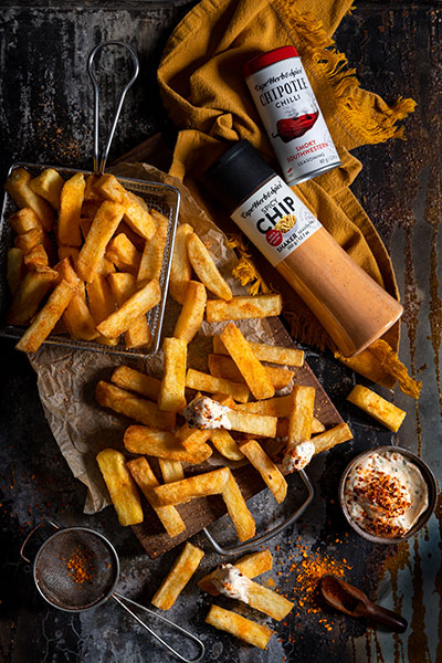 Triple Cooked Hand Cut Chips with Creamy Chipotle Chilli Dip