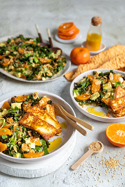 Halloumi Salad with ClemenGold® Dressing