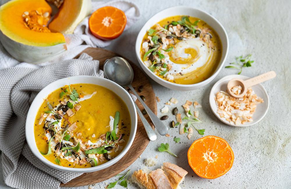 ClemenGold® vegan roast pumpkin soup