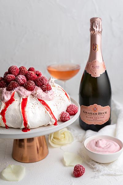 Raspberry & Rose Pavlova