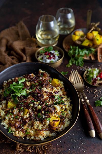 Cauliflower Rice Lamb Biriyani