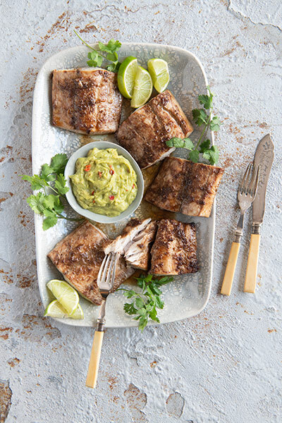 Asian Fish with Guacamole